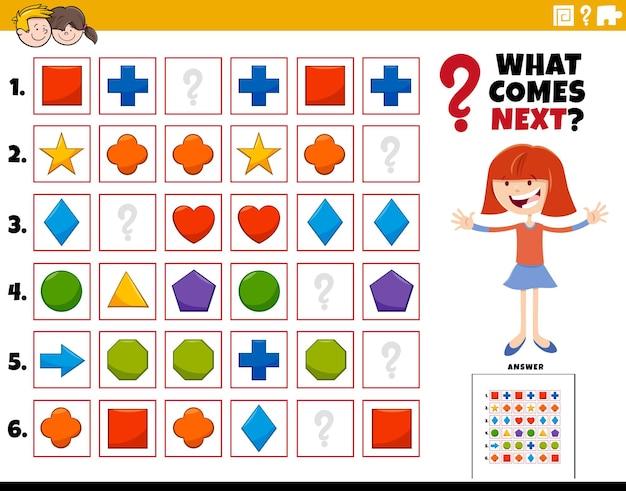 Remplir l'activité éducative de modèle pour les enfants