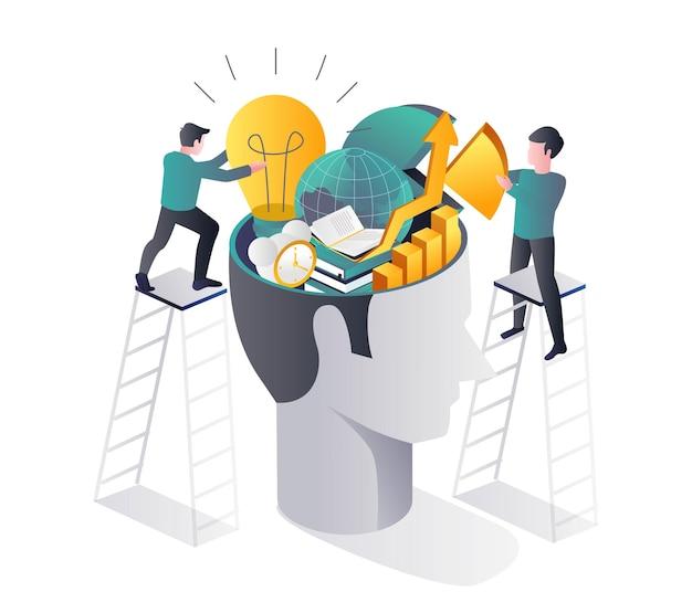 Remplir le cerveau de connaissances et d'informations