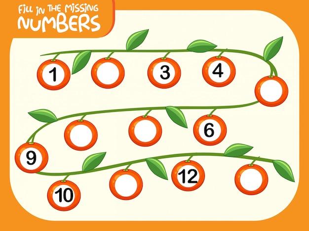 Remplir la feuille de calcul du nombre manquant