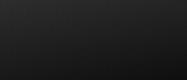Remplissage hexagonal fin techno noir carrés de rangées futuristes dans un style abstrait avec du carbone minimaliste