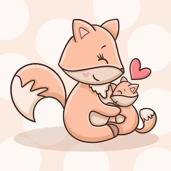 Renard et bébé