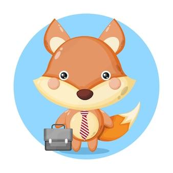 Le renard se met au travail personnage mignon
