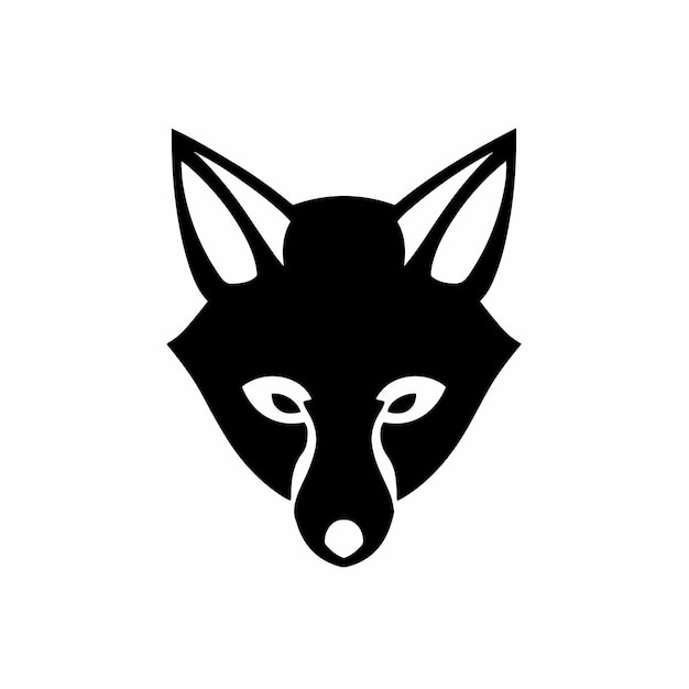 Renard symbole logo illustration vectorielle