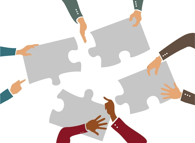 Rencontrer des idées et des affaires avec des gens à la table