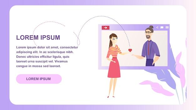 Rencontres site de personnage de réseau de médias sociaux