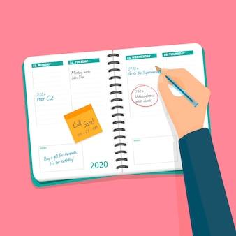 Rendez-vous manuel pour réserver un événement