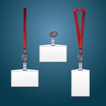 Rendu 3d de modèles de longe, de rétracteur et de badge