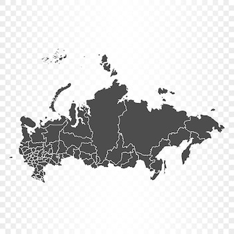 Rendu isolé de la carte de la russie