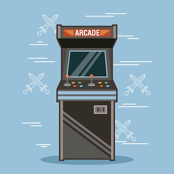 Rendu de machine de jeu d'arcade classique
