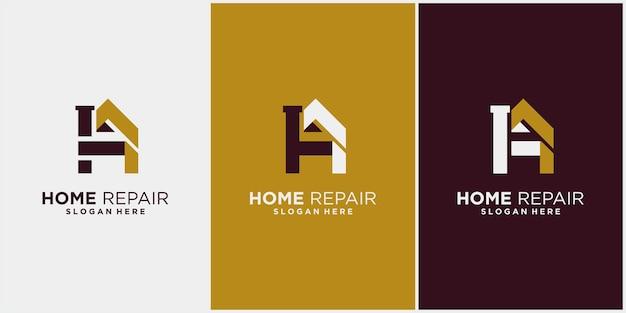 Rénovation domiciliaire, réparation domiciliaire, amélioration domiciliaire et création de logo de l'industrie avec affichage de carte de visite