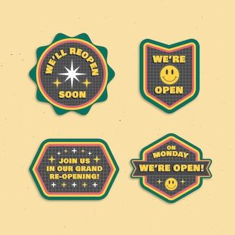 Réouverture bientôt de la conception de l'ensemble de badges