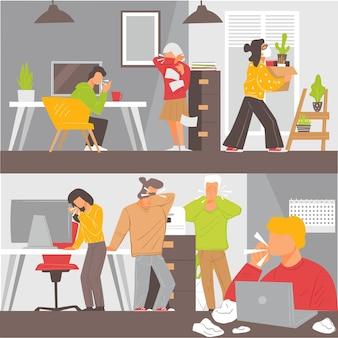 Réouverture des bureaux pendant covid19, danger de coronavirus sur le lieu de travail