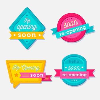 Réouverture prochaine des badges fixés