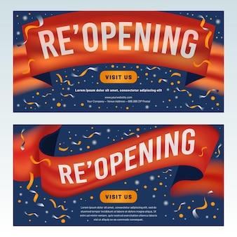 Réouverture prochaine de la bannière avec des confettis