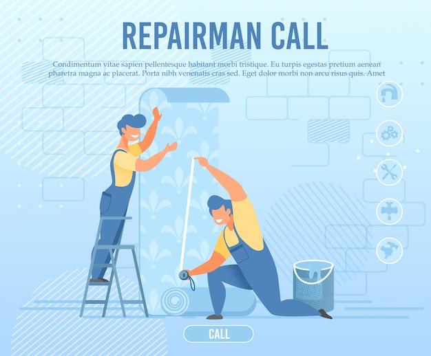 Réparateur d'urgence appelez la bannière de service en ligne