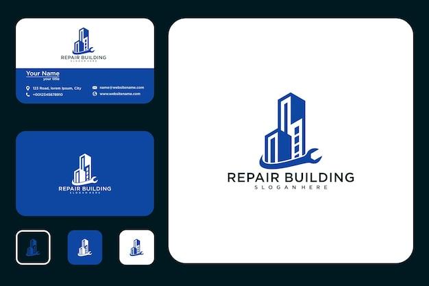 Réparation de la conception du logo du bâtiment et des cartes de visite