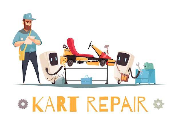Réparation de kart