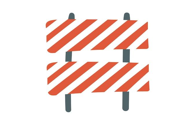 La réparation des routes en construction signe un équipement spécial pour l'entretien des clôtures