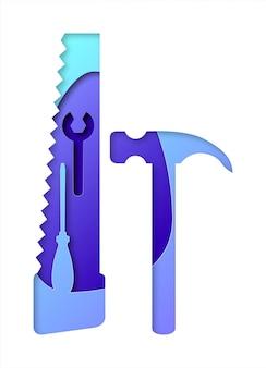 Réparation De Vecteur Dans Un Style Art Papier. Art Numérique Vecteur Premium