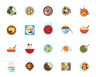 Repas jeu d'icônes