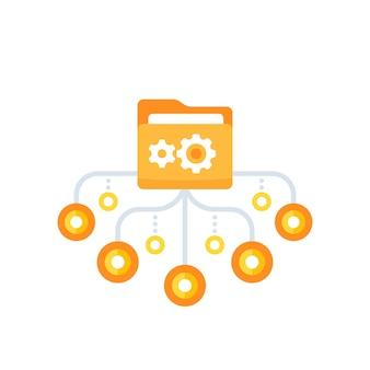 Répertoire actif, icône de vecteur de dossier