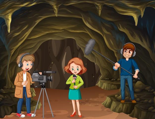 Reportage journaliste de cave