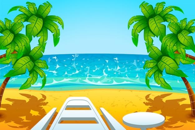 Repos sur la plage