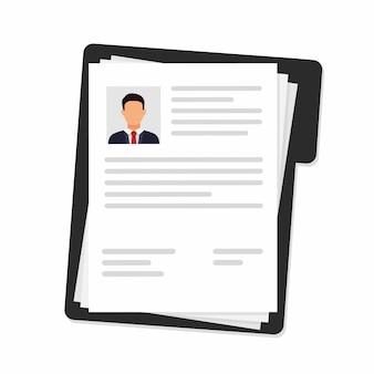 Reprend l'icône du document. recherche de personnel professionnel à plat. recrutement.