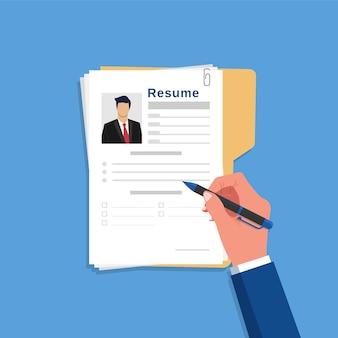 Reprendre le concept d'écriture, homme d'affaires changeant une nouvelle illustration vectorielle de chemin de carrière