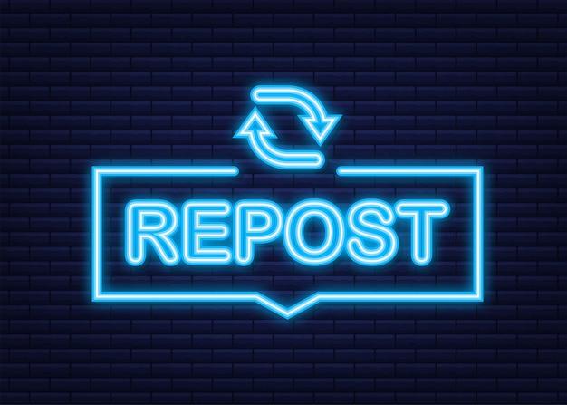 Republier l'icône. republier l'étiquette. des médias sociaux. illustration vectorielle de stock.