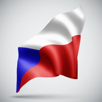 République tchèque, vecteur 3d flag isolé sur fond blanc