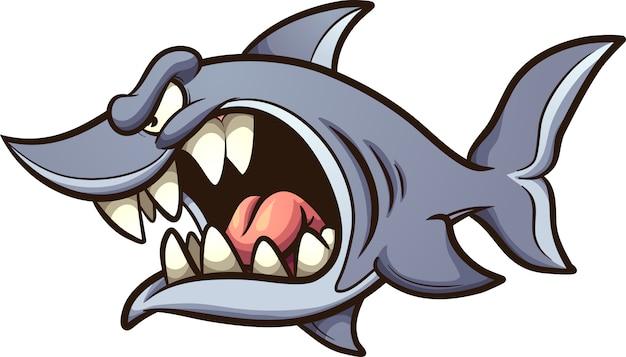 Requin en colère