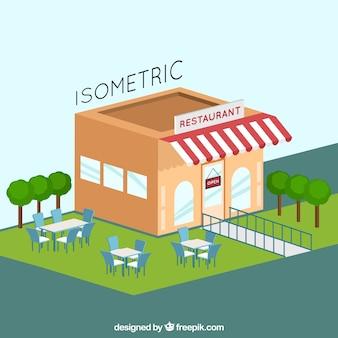 Resaturant avec design isométrique