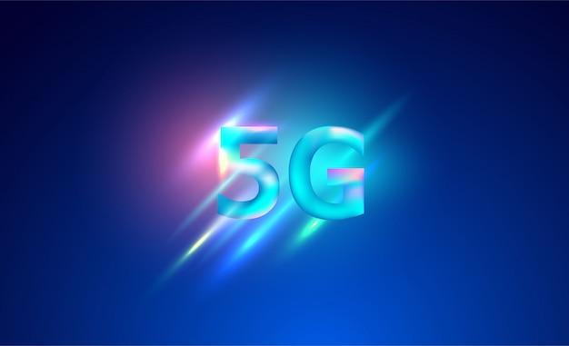 Réseau 5g fond de systèmes internet sans fil. réseau de communication.