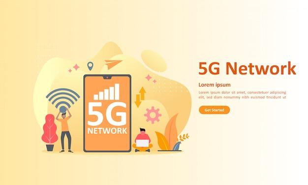 Réseau 5g internet mobile sans fil