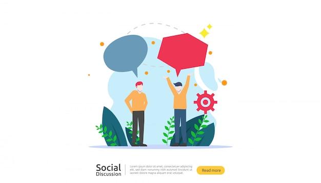 Réseau de conversation sur les réseaux sociaux