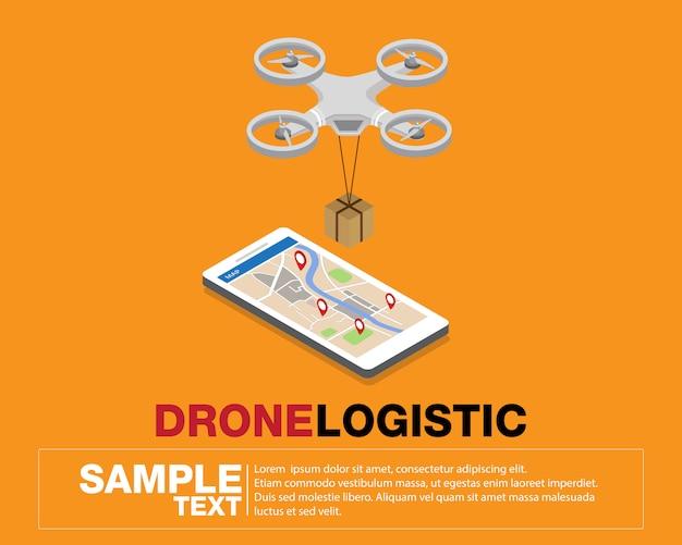 Réseau logistique de drones