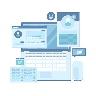 Réseau de médias sociaux communication et discussion sur internet en ligne