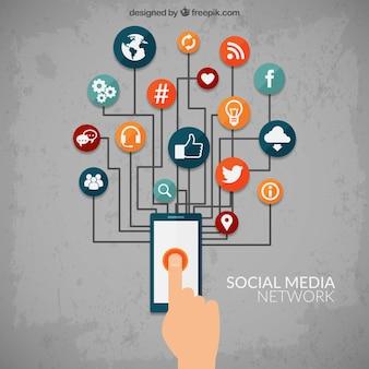 Réseau de médias sociaux