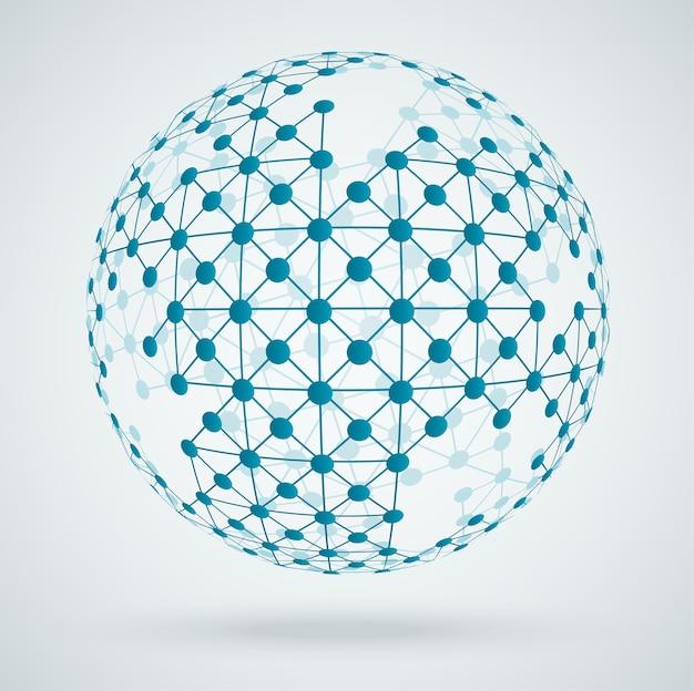 Réseau mondial de connexions numériques
