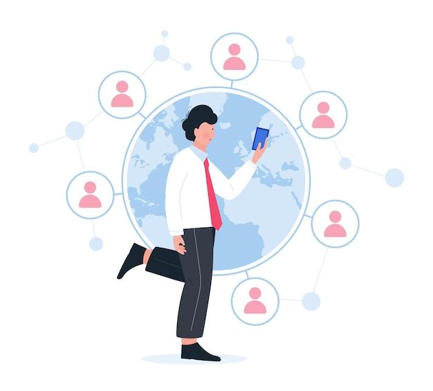 Réseau de personnes et concept de communication globale
