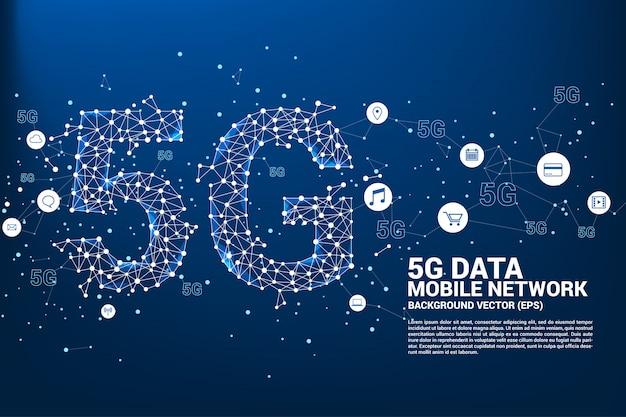 Réseau de réseau mobile 5g.