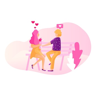 Réseau social - concept d'illustration de rencontres
