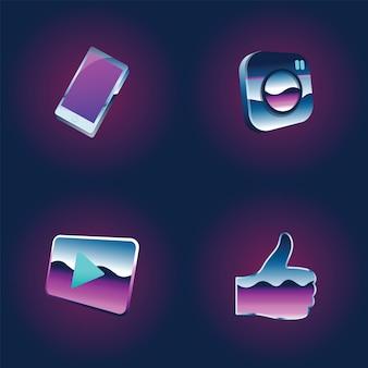 Réseau social médias en ligne communauté technologie graphique illustration illustration