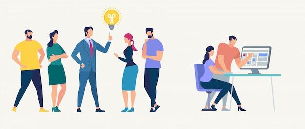 Réseau social et travail d'équipe vecteur concept.