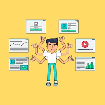 Réseau social virtuel web