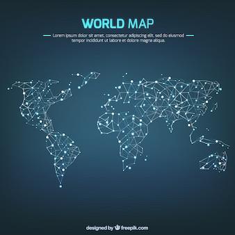 Réseautage carte du monde