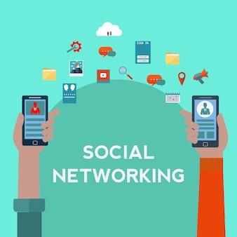 Le réseautage social conception de fond