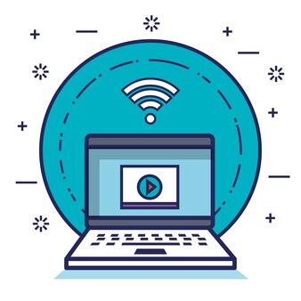 Réseaux informatiques communication de médias sociaux