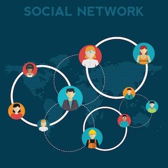 Les réseaux sociaux conception de fond